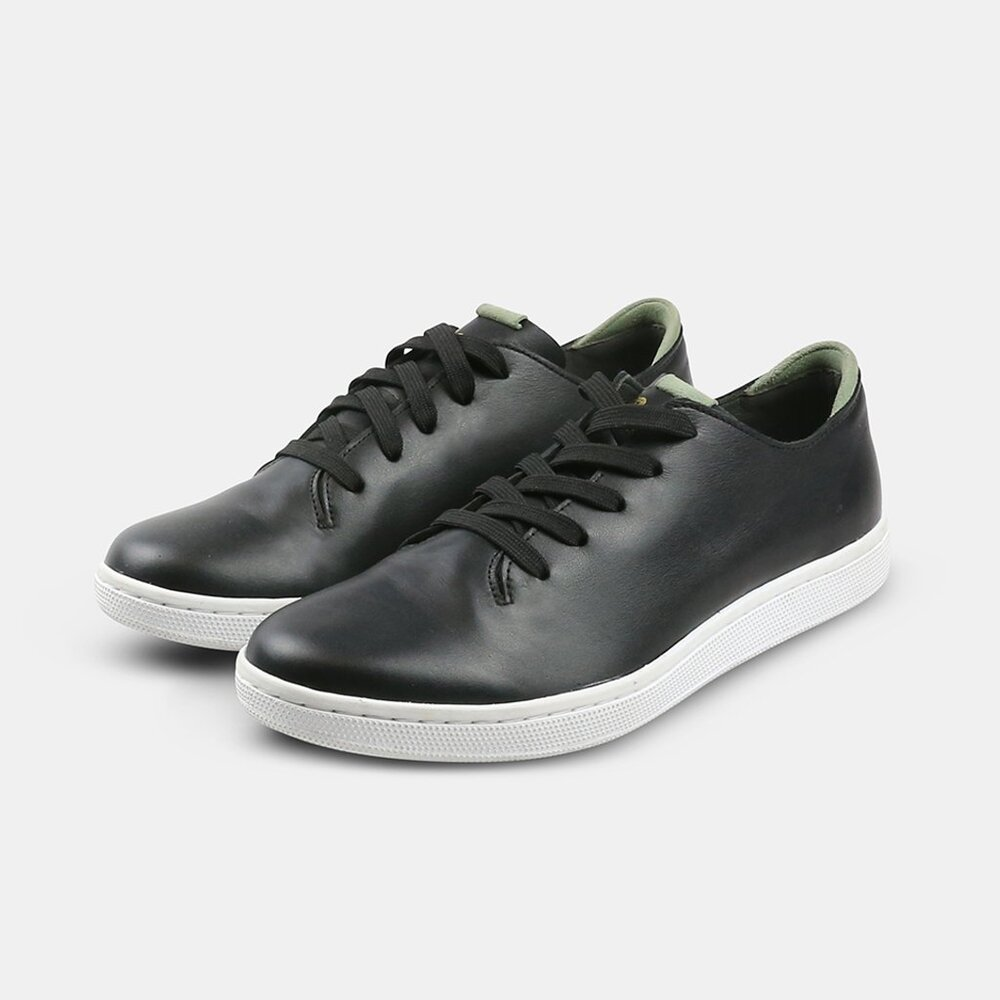 Community Made - Westsider / $180Nothing is more versatile than a classic black sneaker, and this one does the most good. Crafted from sustainable Italian Napa Leather with USA made laces and Ortholite insoles, these shoes are accompanied by a $10 donation to a local community effort to the arts, education, or ending homelessness.