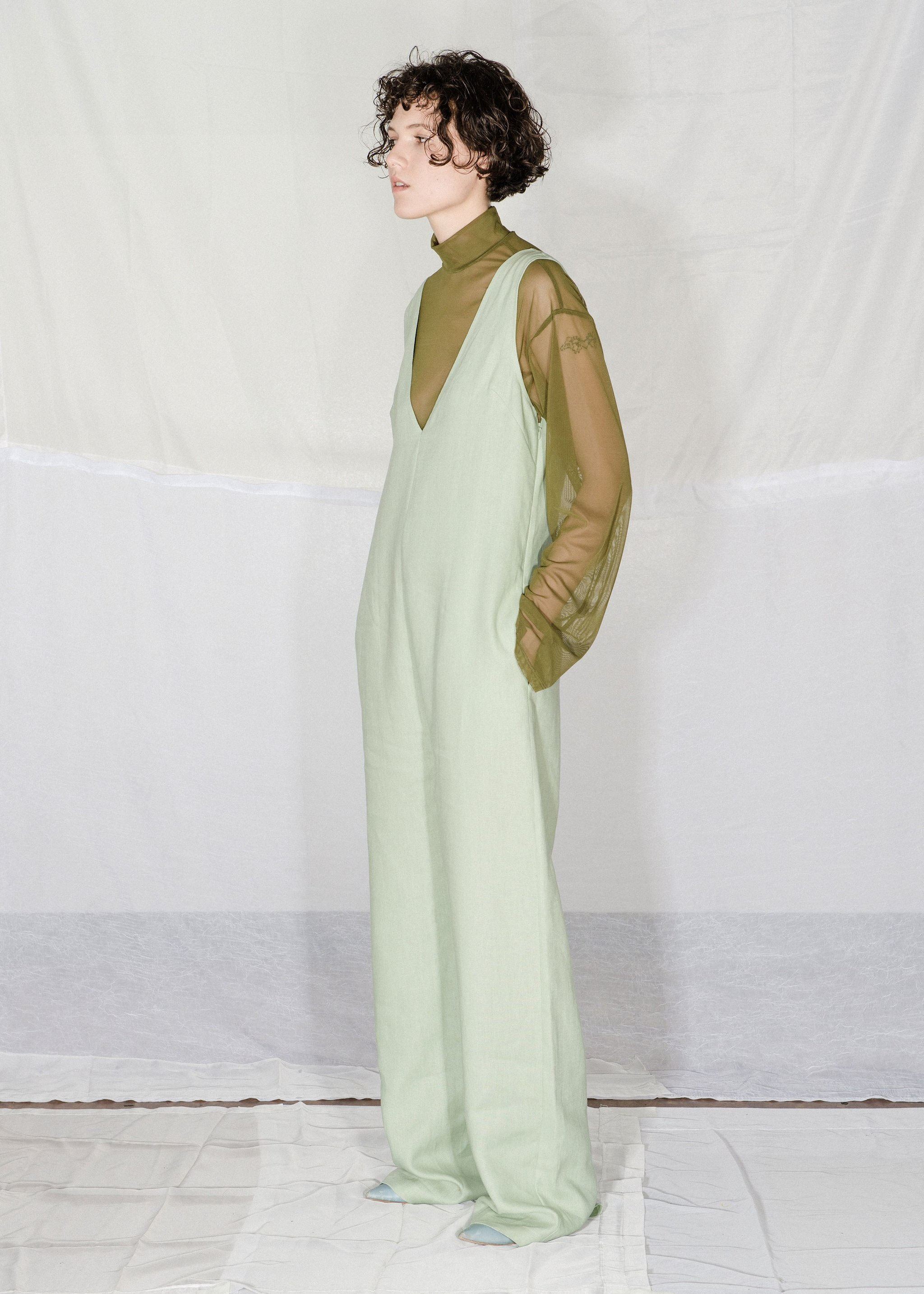 Nomia - Jumper in Pistachio / $325This number is just screaming to be paired with your favorite turtleneck and since it's made of linen you can throw on any coat without worrying about sweating under the high-noon sun.