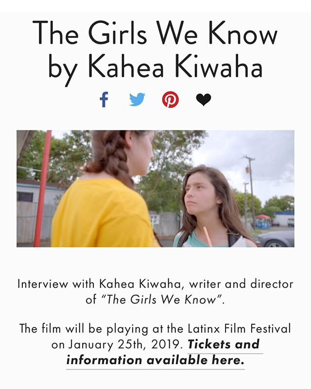 """Kahea Kiwaha's """"The Girls We Know"""" screening tomorrow, Friday the 25th of January."""