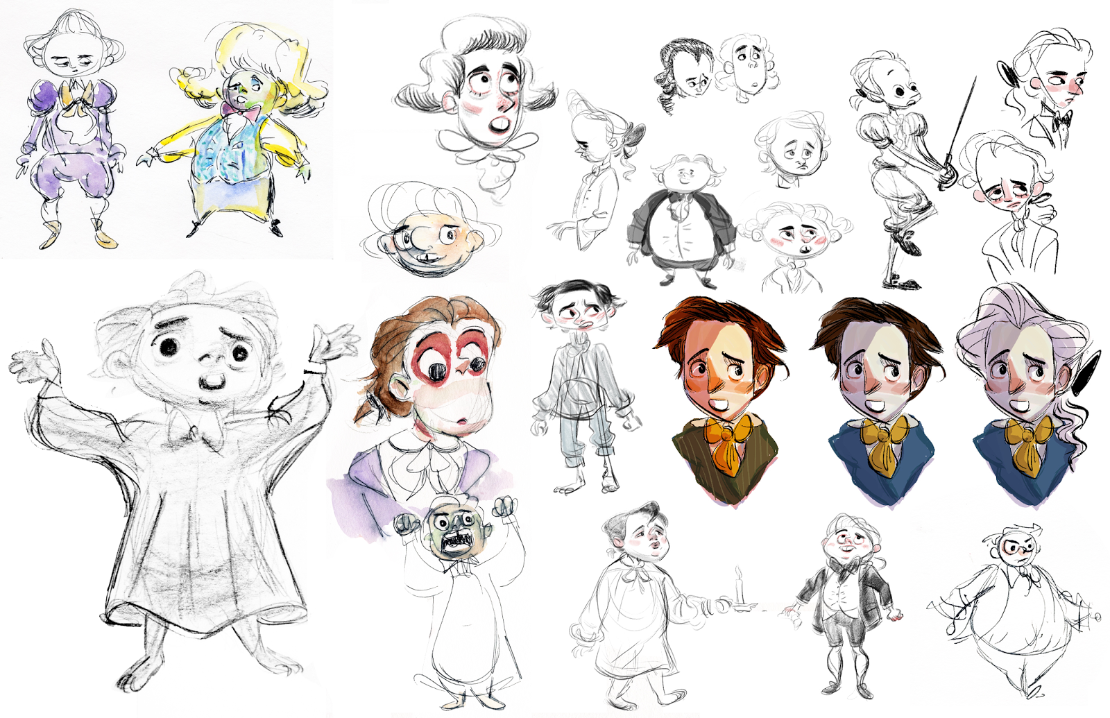 Boy Character Sketches
