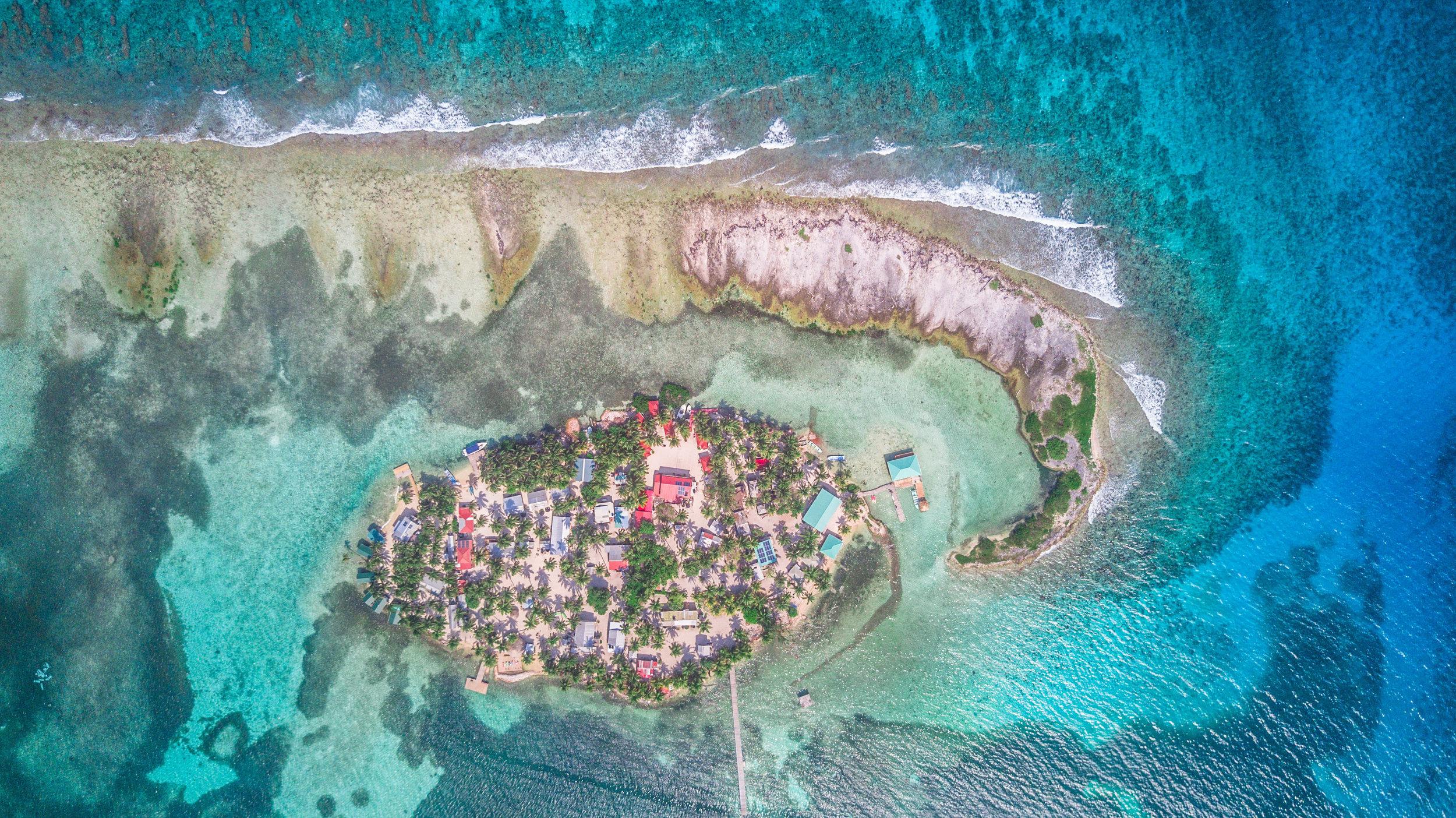 Tobacco Caye in Belize.