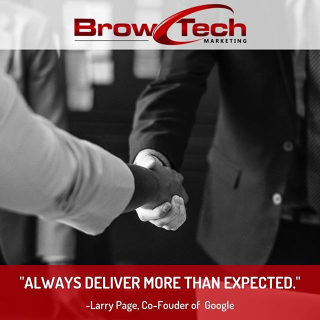 The 🔑 to any business model! By providing your customers with more than they were expecting, you show them not only that you got the job done, but you went above and beyond for them. This can lead to lasting relations & reoccuring customers!✅ . FOLLOW @browtechmarketing FOLLOW @browtechmarketing FOLLOW @browtechmarketing
