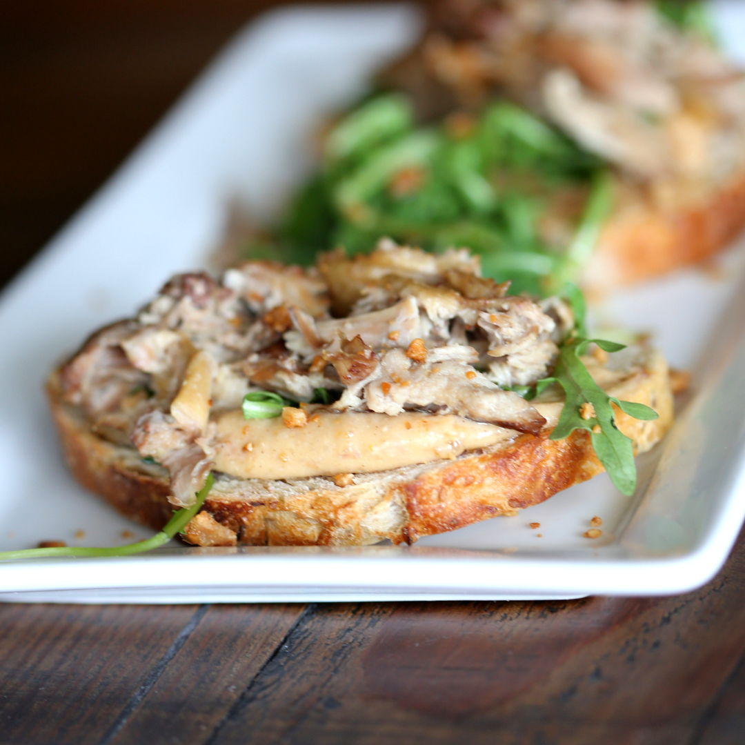 Duck Toast // Photo by Blonde Cravings