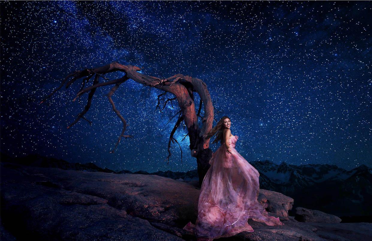 外景夜景  洛杉矶周边外景拍摄  华丽的夜景,炫酷的效果