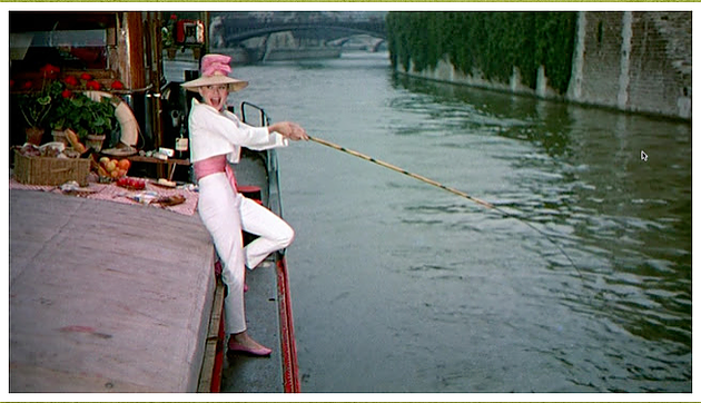 The fishing scene from Funny Face will always be one of my favorites! Look at that silk belt with matching flats and hat! So chic.