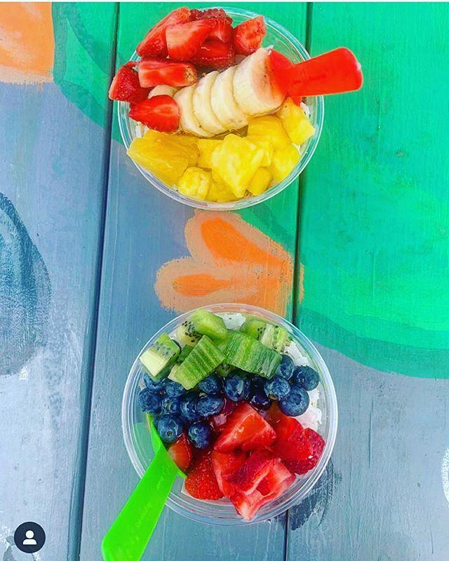 Taste the rainbow.  #sogood #colorfulfood #summertime #delicious #superfruit #superfood #fresh #fruit #gulfshores #mobile #fairhope #alabama #gulfcoast