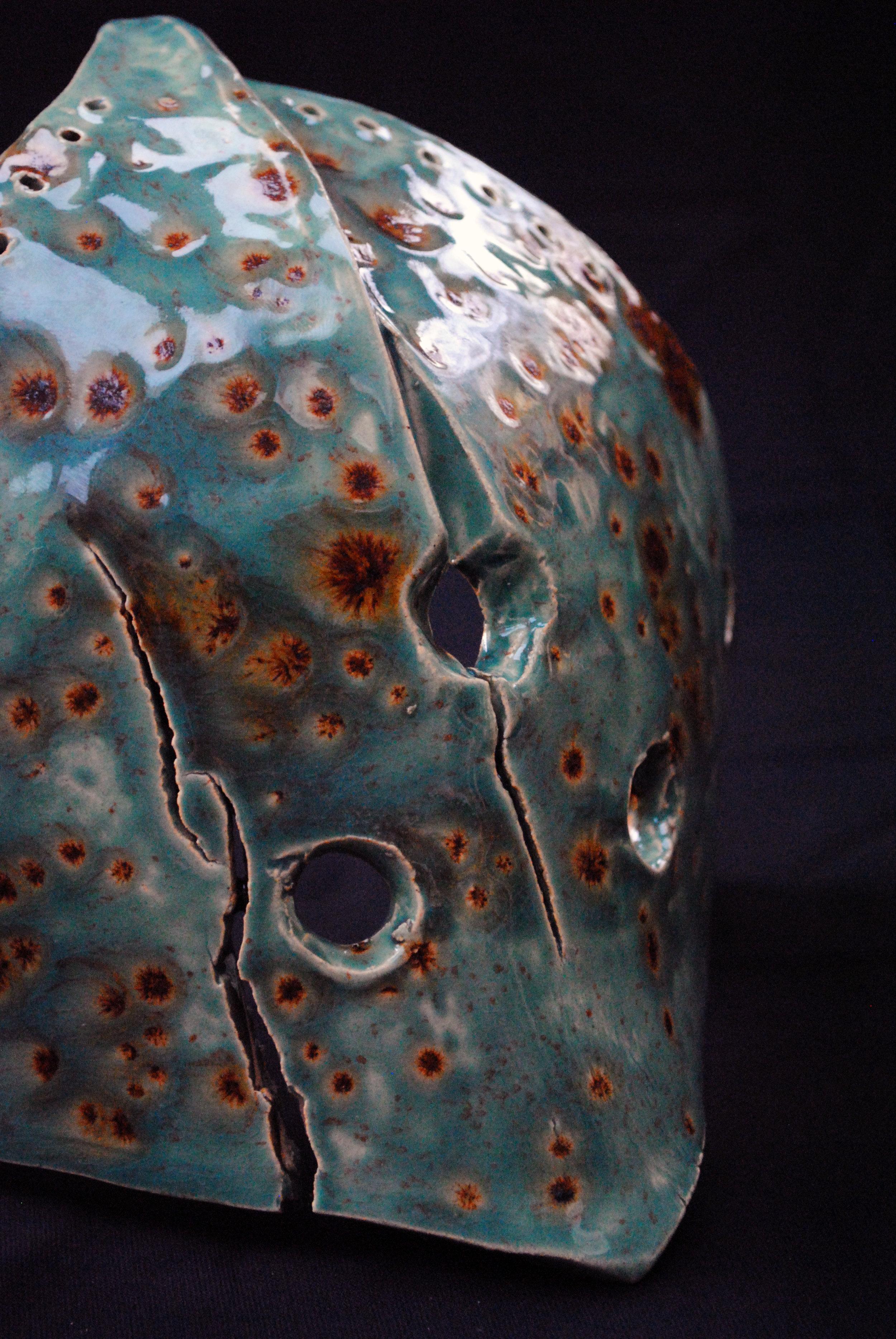 Urchin mask, Clay.JPG