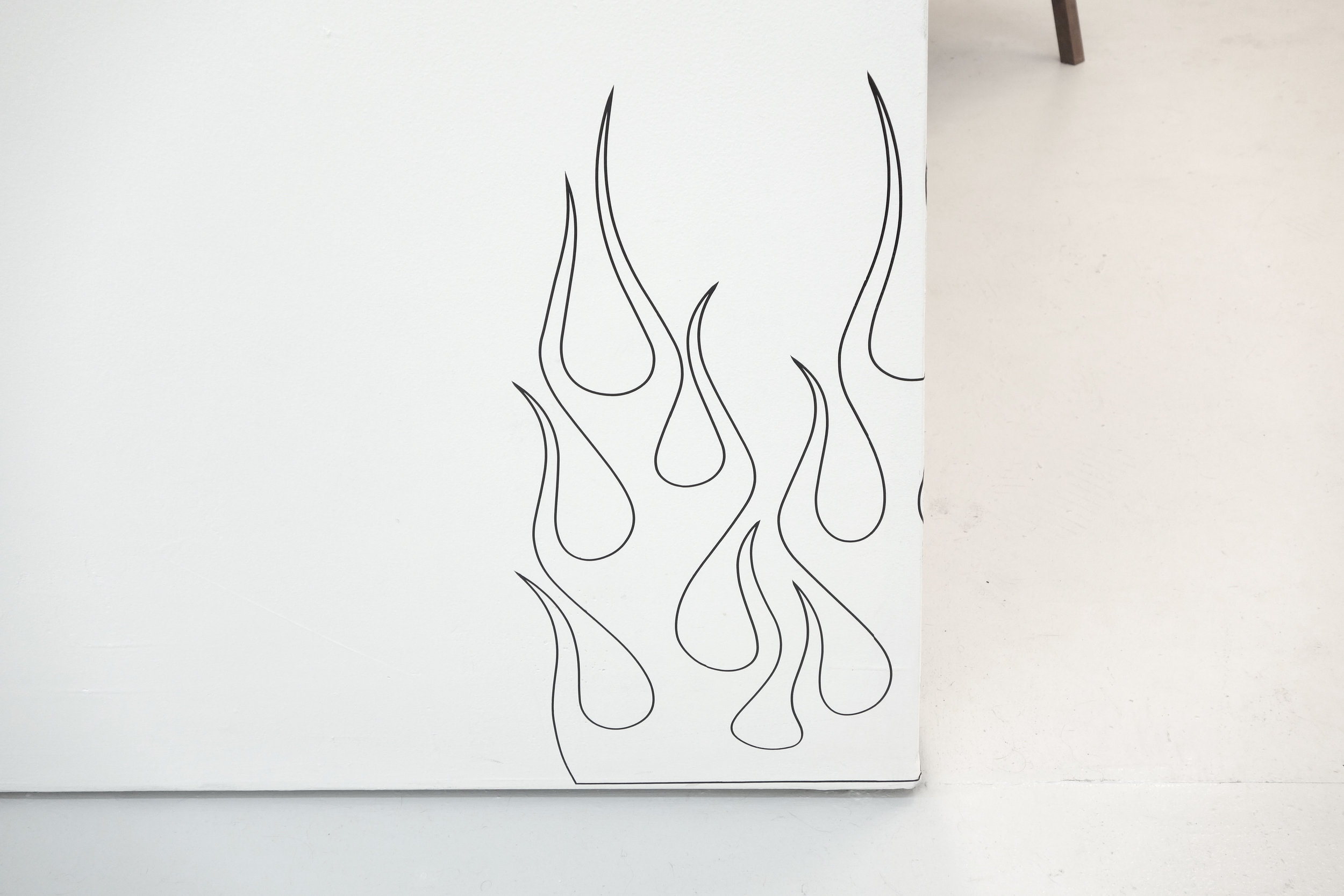 James Bouche  The Devil is in the Details , Vinyl Decal on Wall, Dimensions Variable, 2018, Open Edition