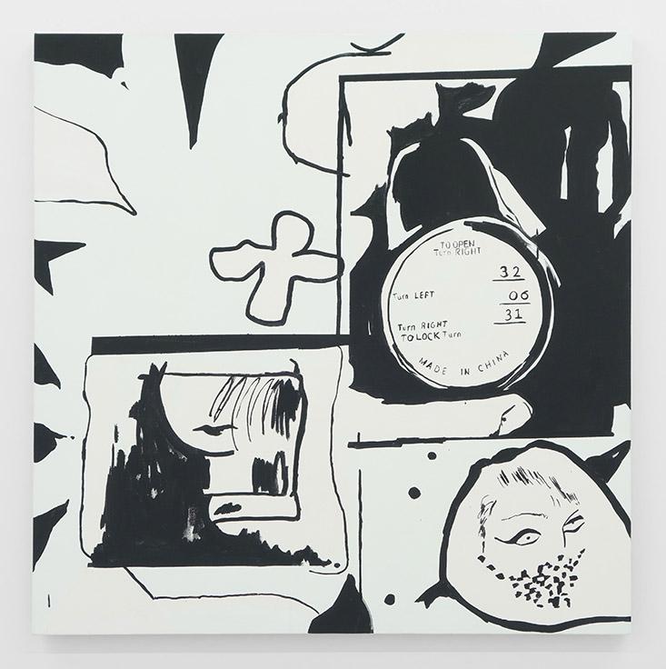 """Erika Hickle Tiny Looks Acrylic on Canvas 46"""" x 46"""""""