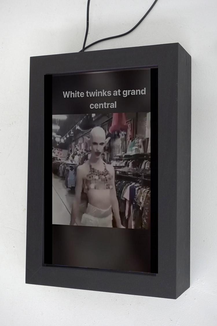 "Markele Cullins Technological Closet Digital Video Loop and Custom Vitrine 24"" x 16"""