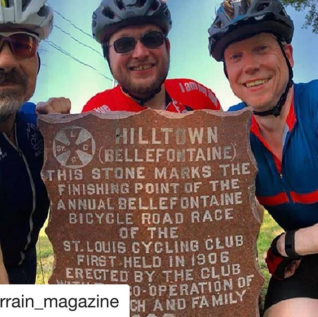 We're so excited about this, and all the interest in the markers and their history.  Come hang out with us at the Frisco Hill Challenge. #saintlouiscyclingclub