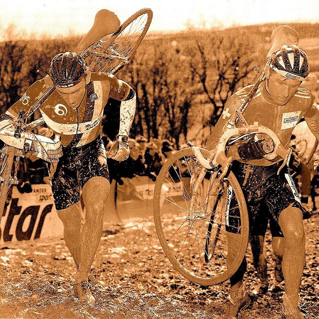 Cyclocross season is upon us, so for Monday's Musette Bag, we'll look back at some of our favorite riders from the past.  @billygoatbicycleco @billygoatracing @aeolusendurance @veloprobike @paulherygers @colnagoworld @alan_bikes #mondaymusettebag #mondaysmusettebag #cyclocross #veldrijden #paulherygers #rolandliboton #stefanmutter #pascalrichard #radquer #swisscross #knowgoatsknowglory #dropbars #dropbarsnotbombs #alanbikes #cyclocrossracing #funinthemud #barendshifters #colnago #colnagocyclocross