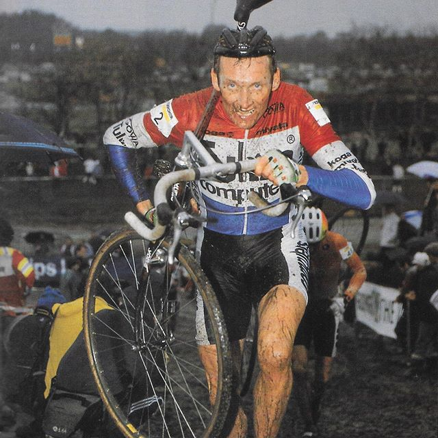 With the race of the falling leaves 🍁 in the books, it's time to focus on cyclocross.  But in the spirit of Musette Bag Monday, we're taking a look back, rather than forward, with some cyclocross stars of the past.  @billygoatbicycleco @billygoatracing @aeolusendurance @veloprobike @mathieuvanderpoel @paulherygers @dieter.runkel #mondaymusettebag #mondaysmusettebag #cyclocross #superprestigecyclocross #adrievanderpoel #paulherygers #dieterrunkel #veldrijden #radquer #dropbars #dropbarsnotbombs #knowgoatsknowglory #hup #huphup #huphupbuttercup #swisscyclocross #belgiancross #dutchcyclocross
