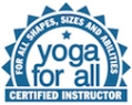 Yoga For All Certified Teacher logo.