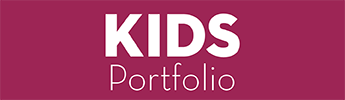 kids portfolio button