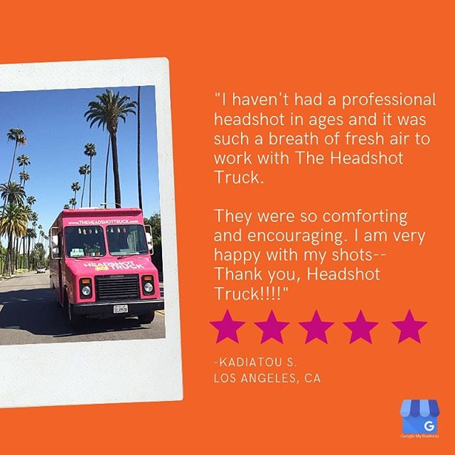 Wow! Thank you for the @google review, Kadiatou. Have you shot on the truck recently? We'd love to hear your experience!