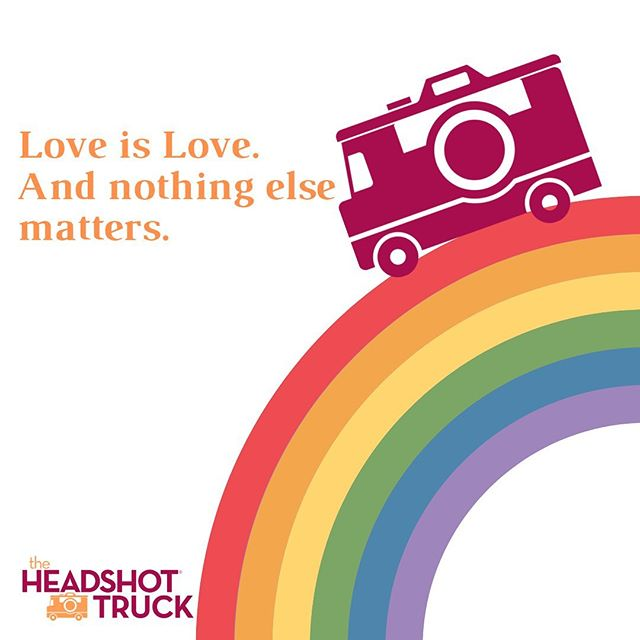 As #PrideMonth comes to a close, we just wanted to share the love a little more! Here at the Headshot Truck, we are proud to be an ally not only to the LGBTQ community, but to all communities. We are so lucky to have met so many incredible people on this journey so far! We encourage you to keep showing the love to those in your community, show a bit more love to those who need it, and never stop showing the love to those who support you. As always, keep being you and don't ever be ashamed. We can't wait to capture YOUR unique self on the truck soon! #HeadshotTruck #loveislove