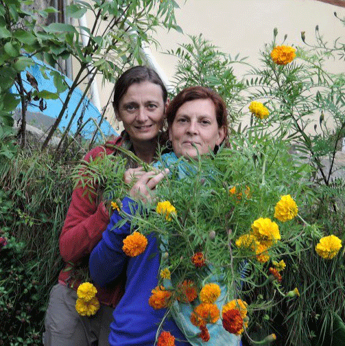 Martin & Marleen in the gardens