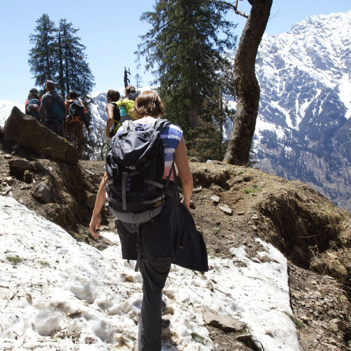 Ascending to Bhrigu Lake