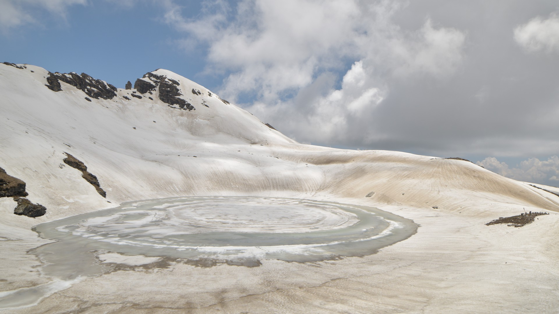 Bhrigu Lake Trek in Manali - Bhrigu Lake or Brighu Lake is a lake located at an elevation of around 4,300 metres (14,100 ft) in Kullu district, Himachal Pradesh, India. It is located to the east of Rohtang Pass and is around 6 kilometres (3.7 mi) from Gulaba village