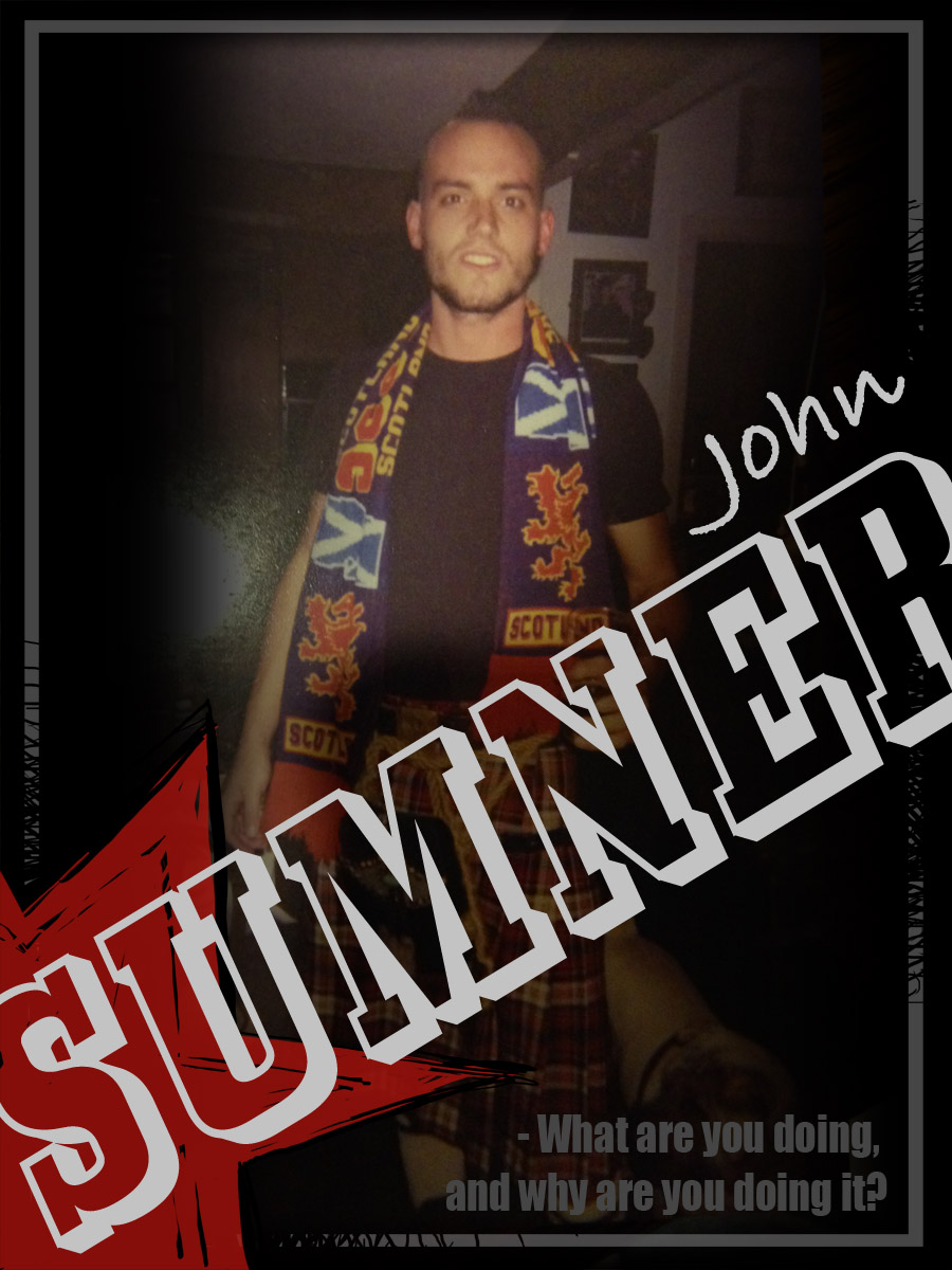John Sumner - John Sumner spent most of his young life as a journeyman, traveling across the country and working a ton of odd jobs. Little did he know that all of these experiences would come in handy as he settled into the entertainment industry in Los Angeles, CA.  For the past decade, John has been primarily working as a Production Designer/Art Director/Builder for Film, Television, and Internet Content, with a focus on stop-motion.When John isn't working on professional jobs, you can usually find him carving tikis, drawing comics, and trying not to get his butt kicked by his wife and kids in Tae Kwon Do.Other Important Stats about John Home Town : Detroit, Mi.Education : Art Center College of Design, Pasadena CA.  Graduated MFA with Honors Current Position : Art Director at Stoopid Buddy Stoodios in Burbank, CA