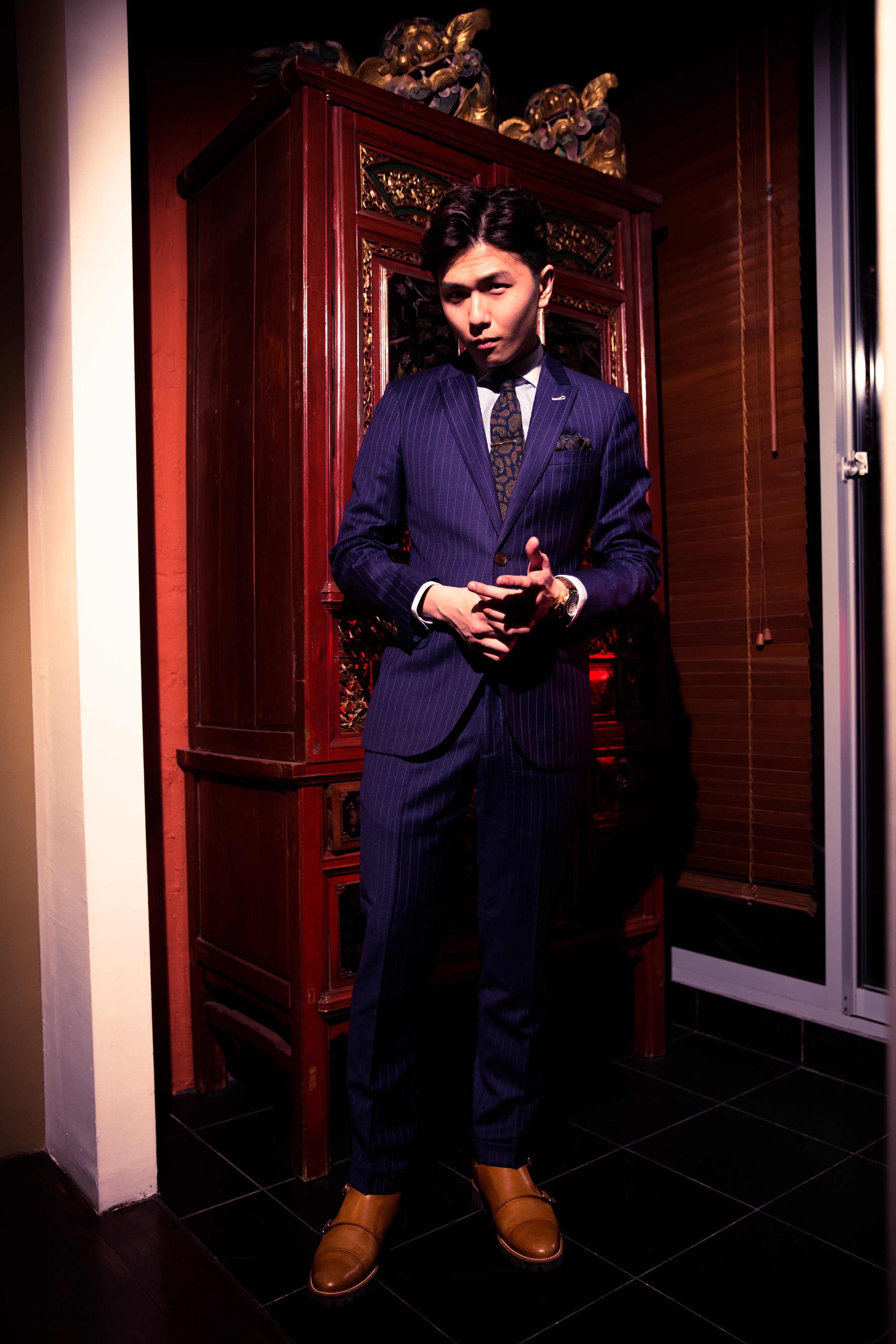 blue pinstripe - bring out your boss look