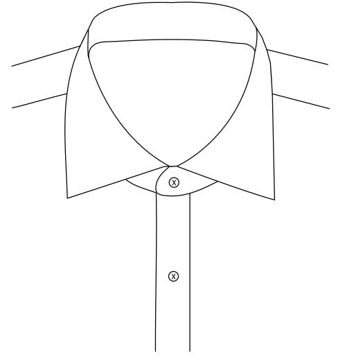 English Spread Collar 7.1cm