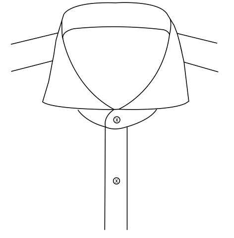 Cutaway collar 8.2cm