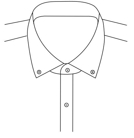 Button Down Collar 6.4cm