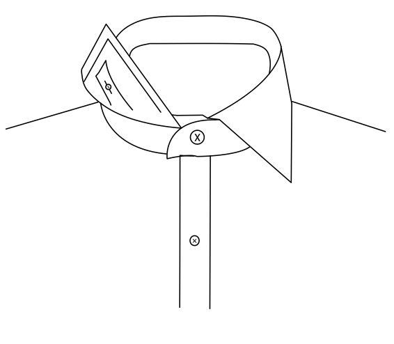 Concealed Button Down Collar 6.4cm