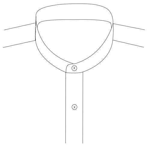 Mandarin Collar 3 cm