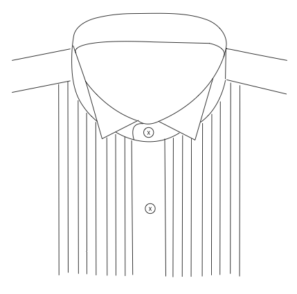 Wingtip Collar  (For Tuxedo Shirts Only)