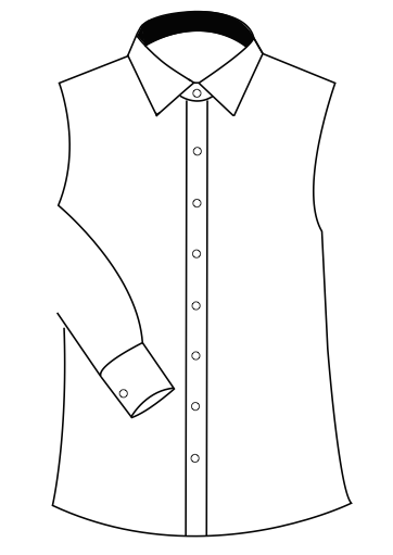 INNER CONTRAST COLLAR ONLY