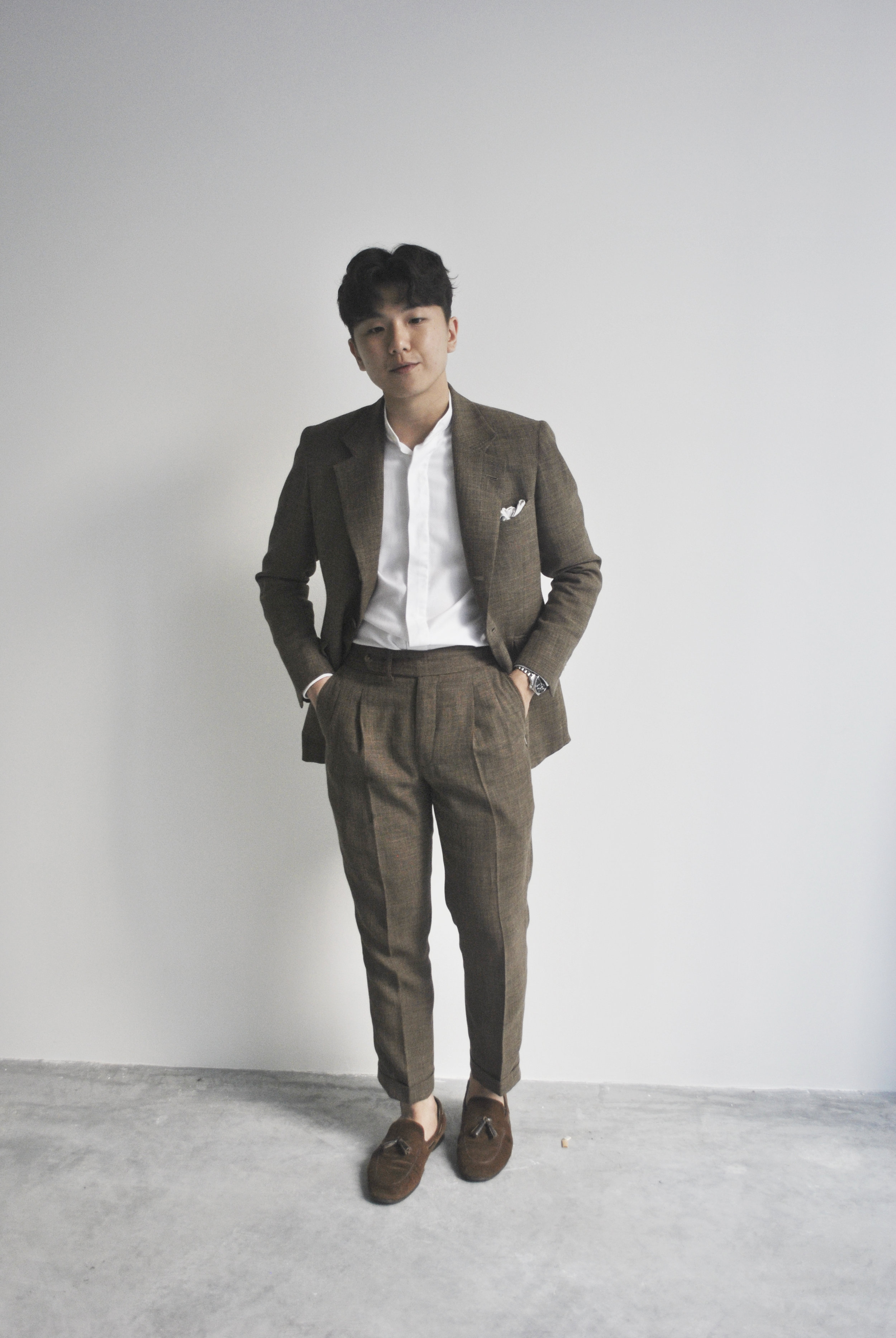 madesuits pleated trousers hopsack tailored mens suits