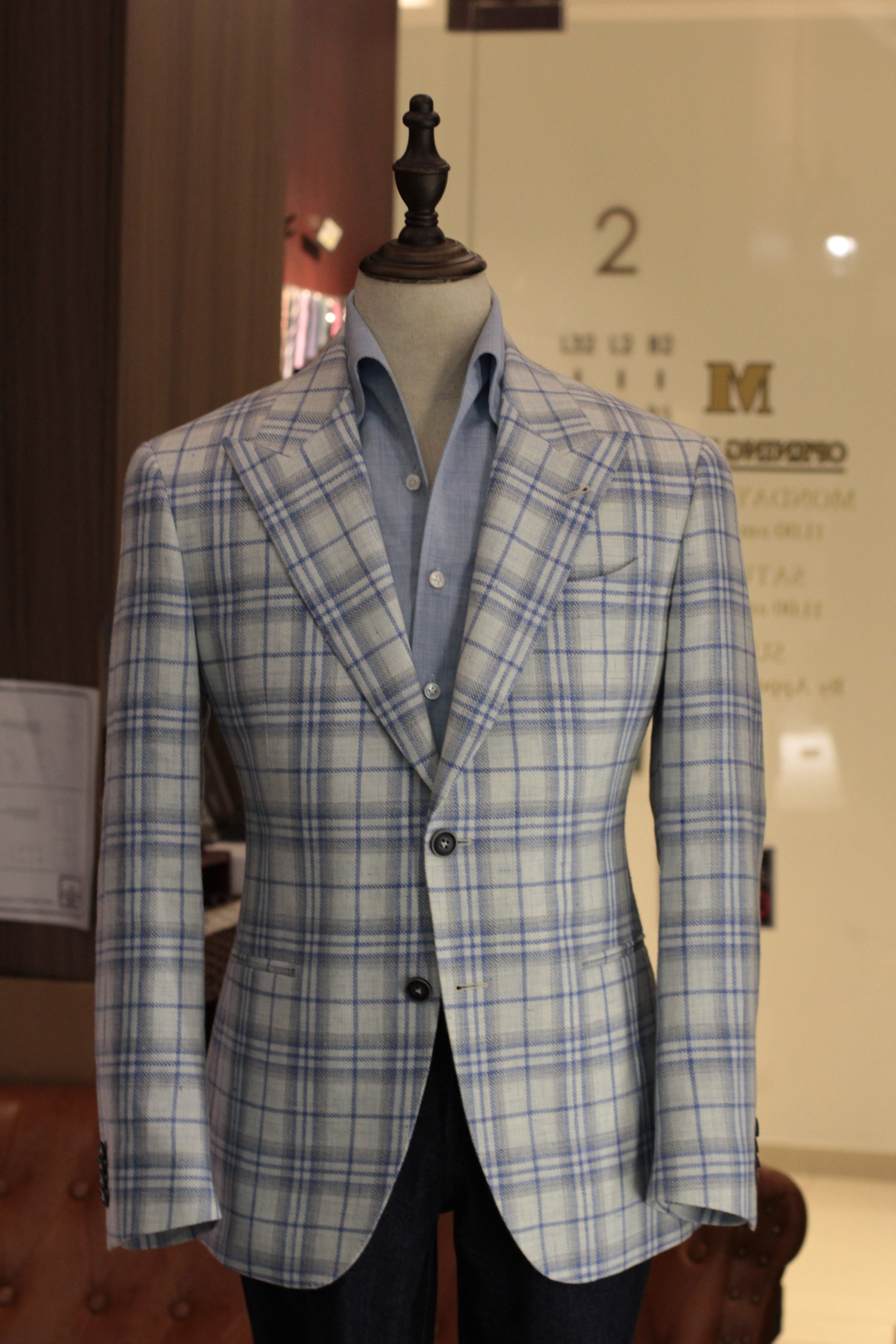Mr Speckless   Tailor Made Suits   Made Suits Stylbiella looks front back.JPG