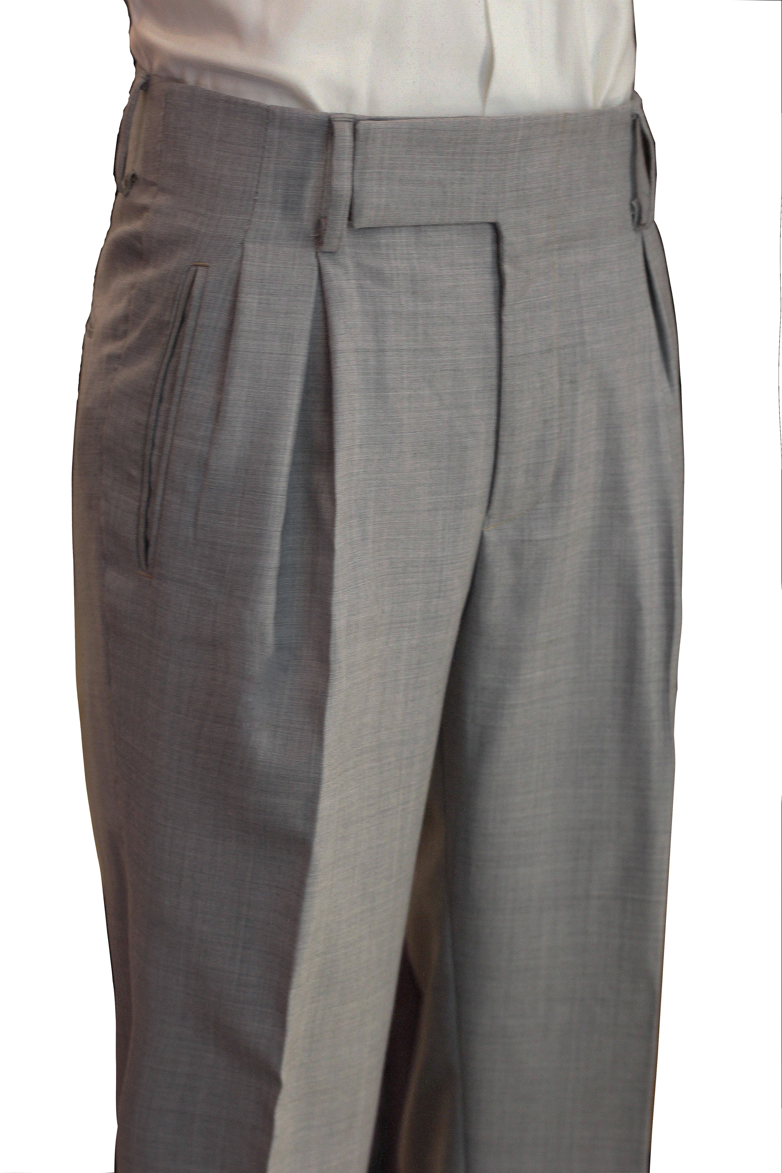 Inverted Pleats with Hollywood waistband