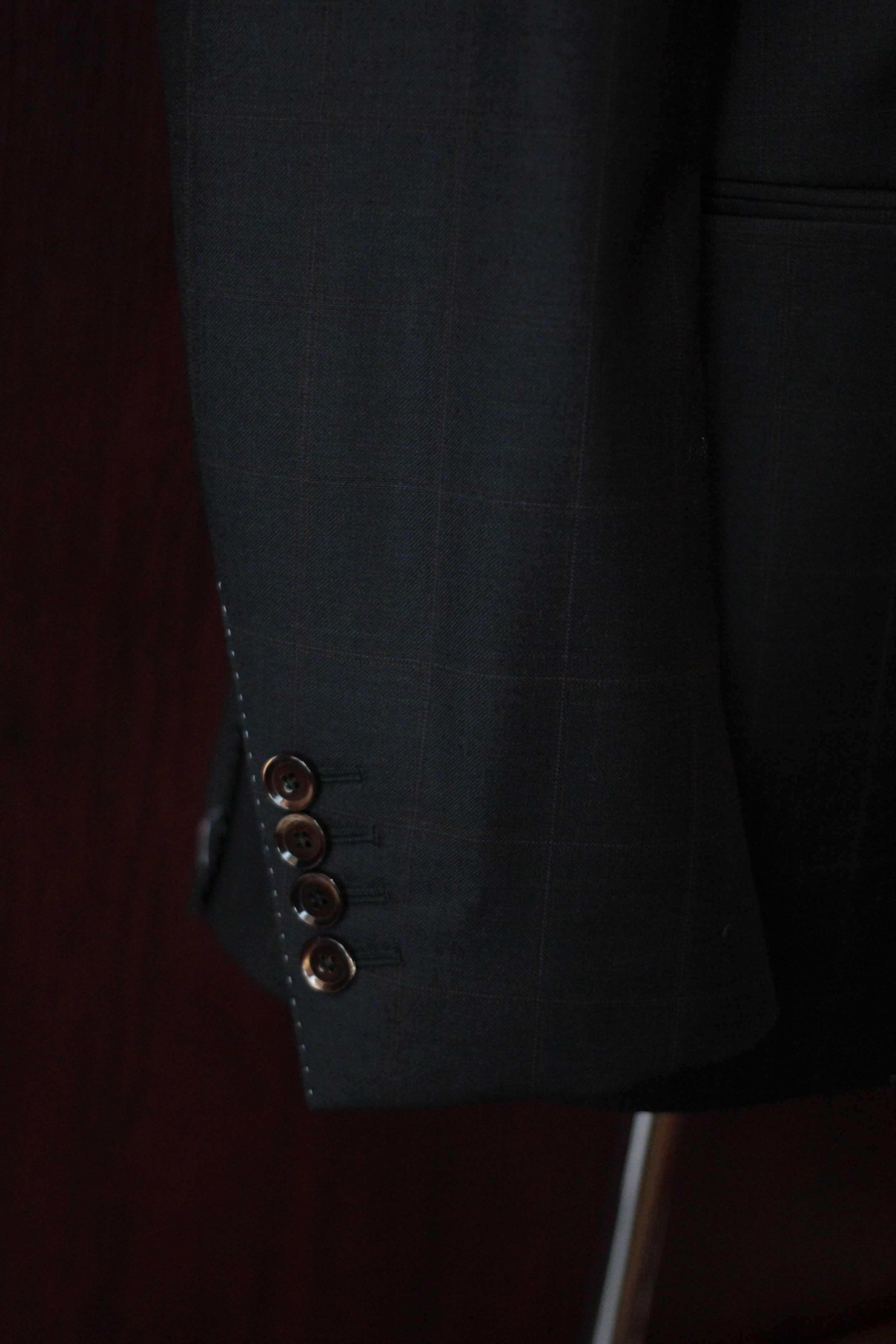 Functional Sleeve Buttons with mother of pearl buttons