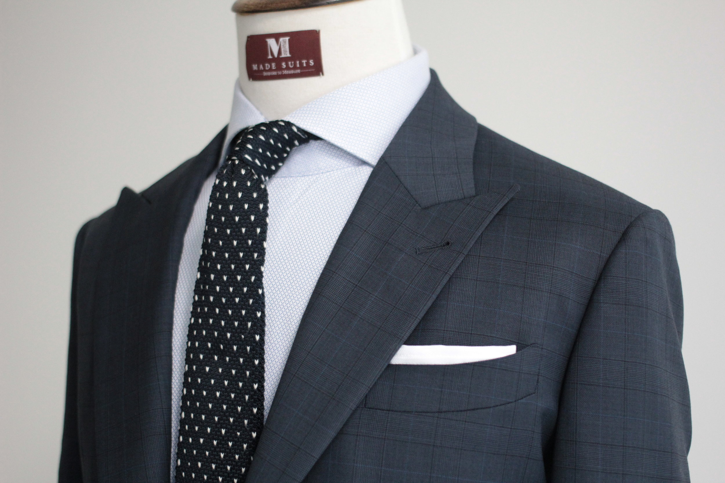 Mr Mimic Made Suits Prince of Wales Checks Blue front.JPG