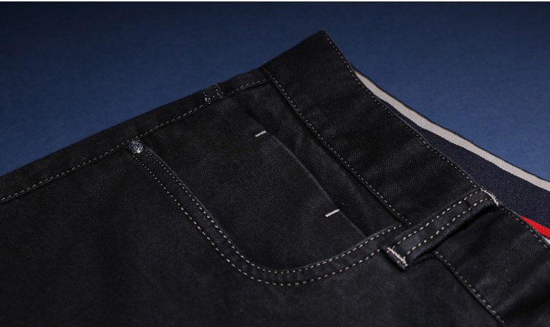 Coin Pocket with white double stitching