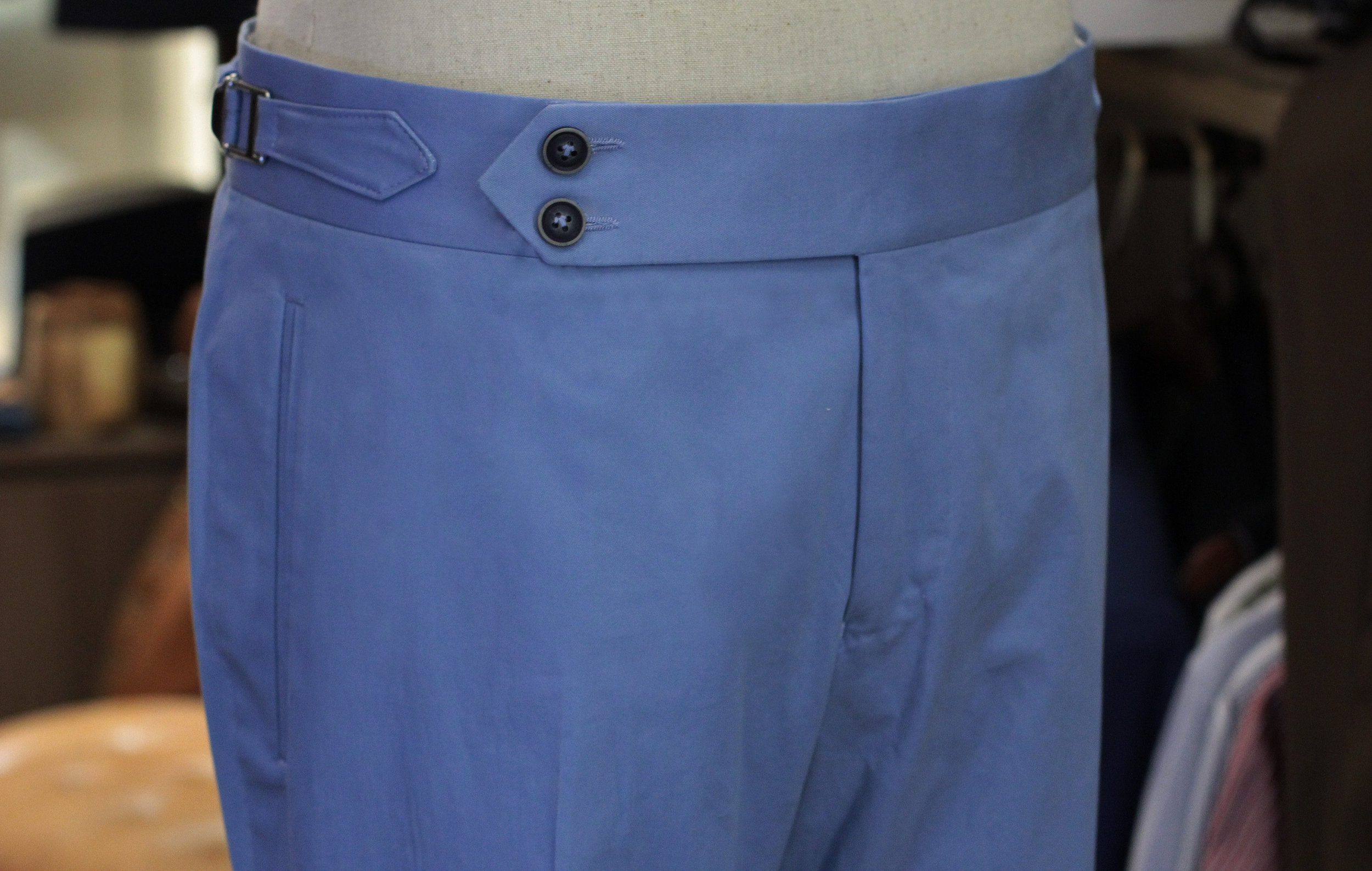 Light Blue Chino Cotton Made Suits Made to measure chinos trousers casual pants.JPG