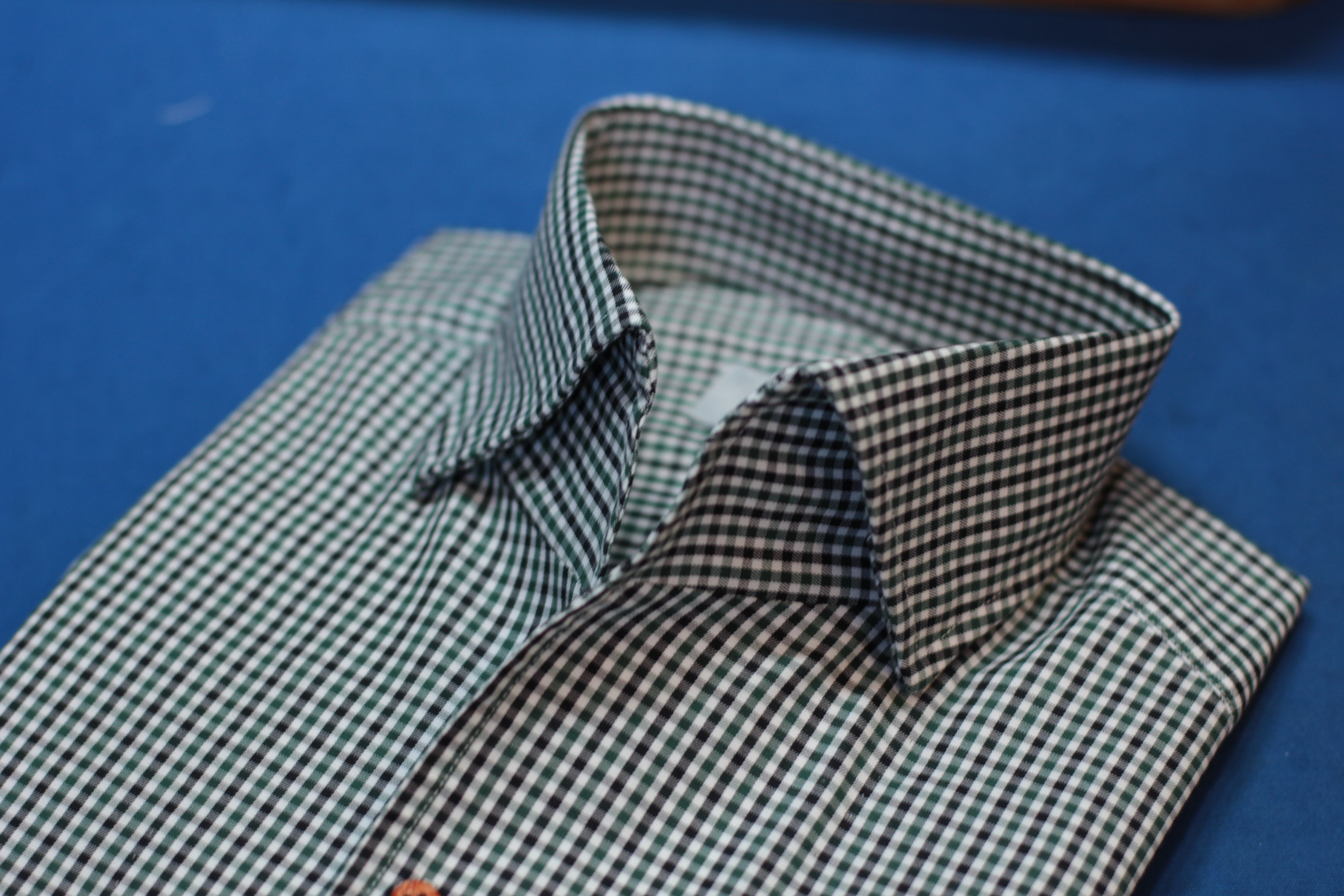 Green Checks One Piece Collar Made Suits Shirts | Made to measure Shirts 1.JPG
