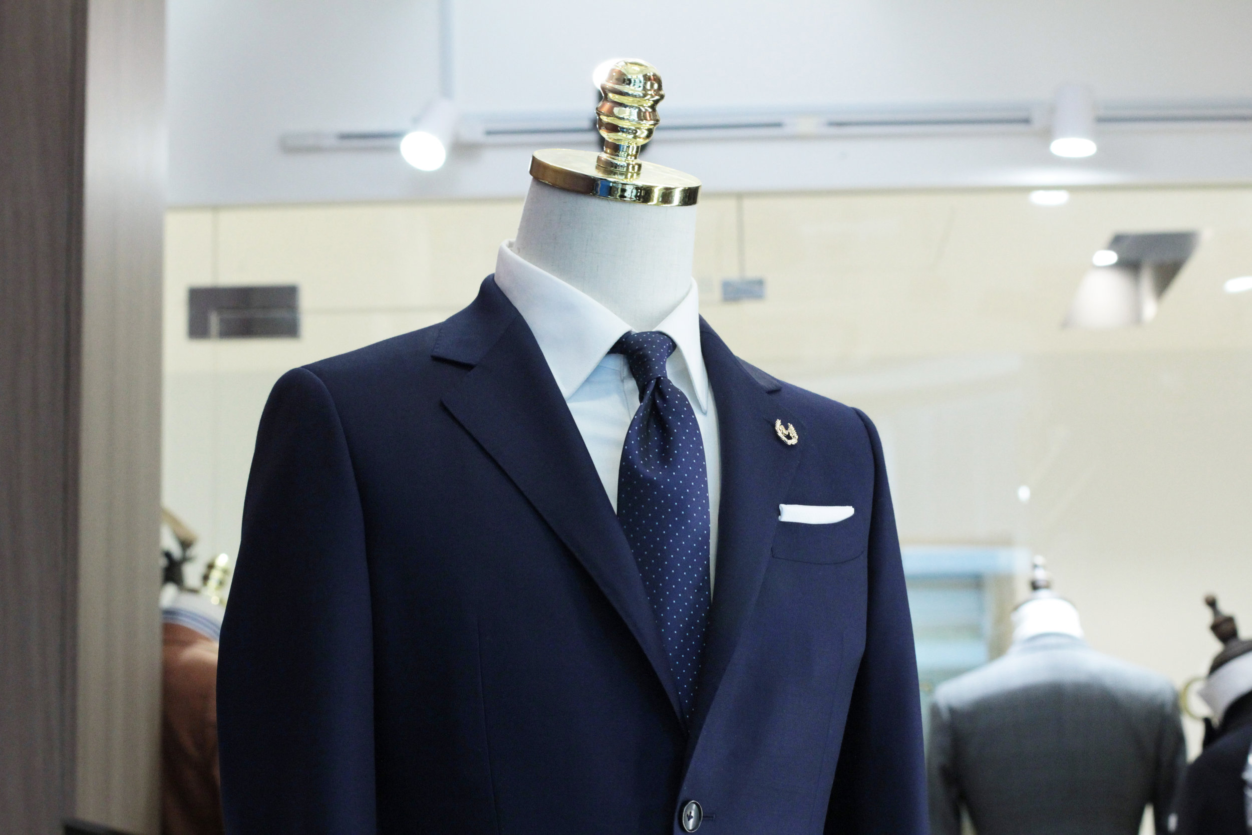 Front view Made Suits Conan Notched Lapel Suit Navy Blue FILARTE Made to Measure Suit.JPG