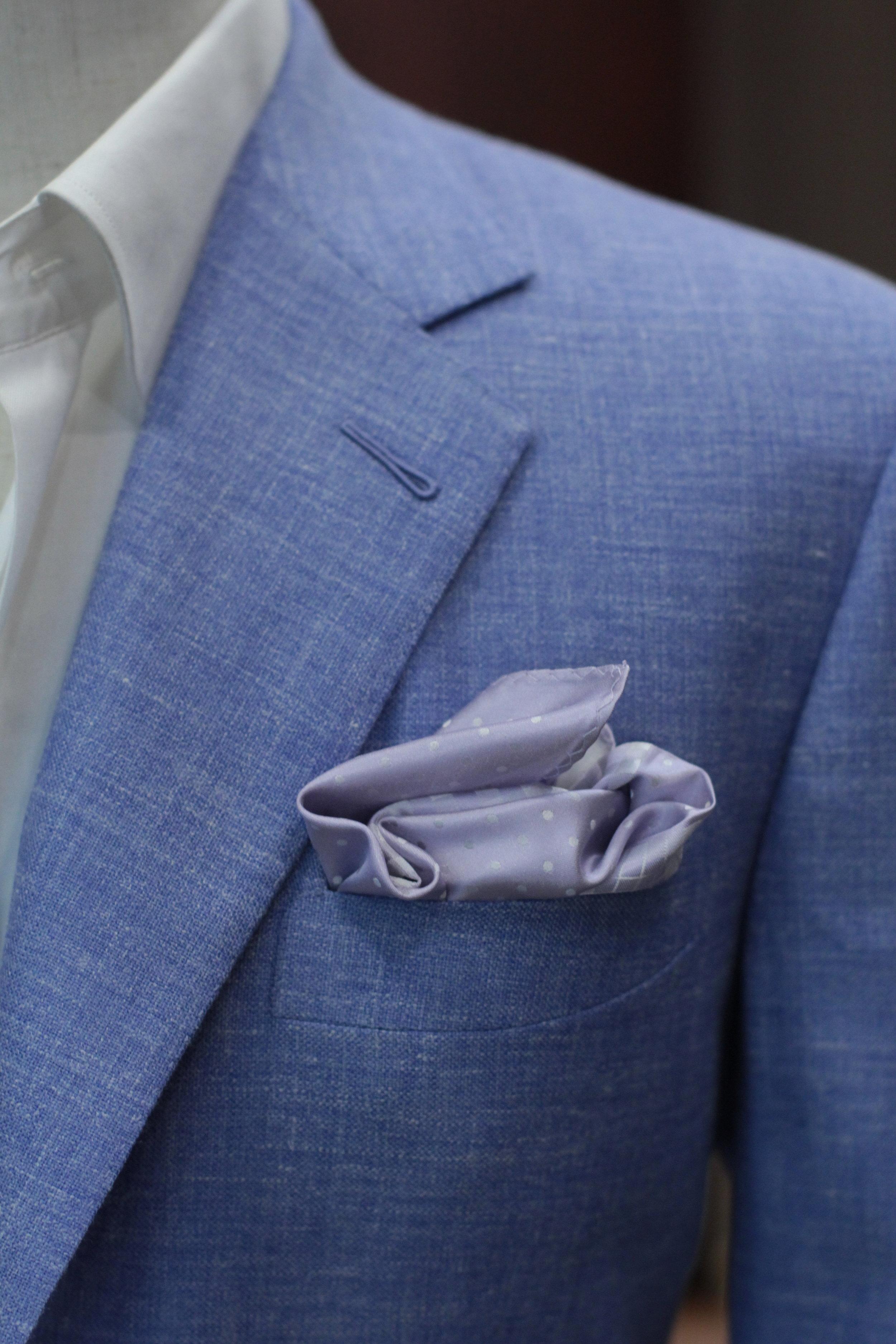 Milanese Lapel Buttonhole with Notch Lapel