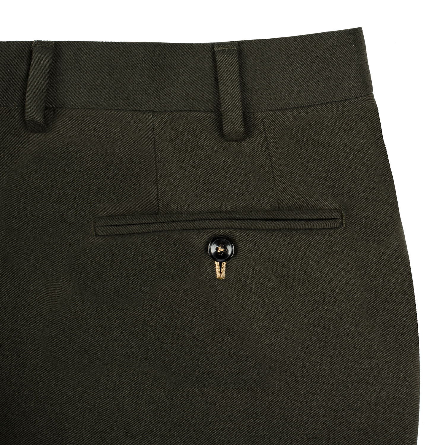 Back Pocket with Reinforced Piping stitching