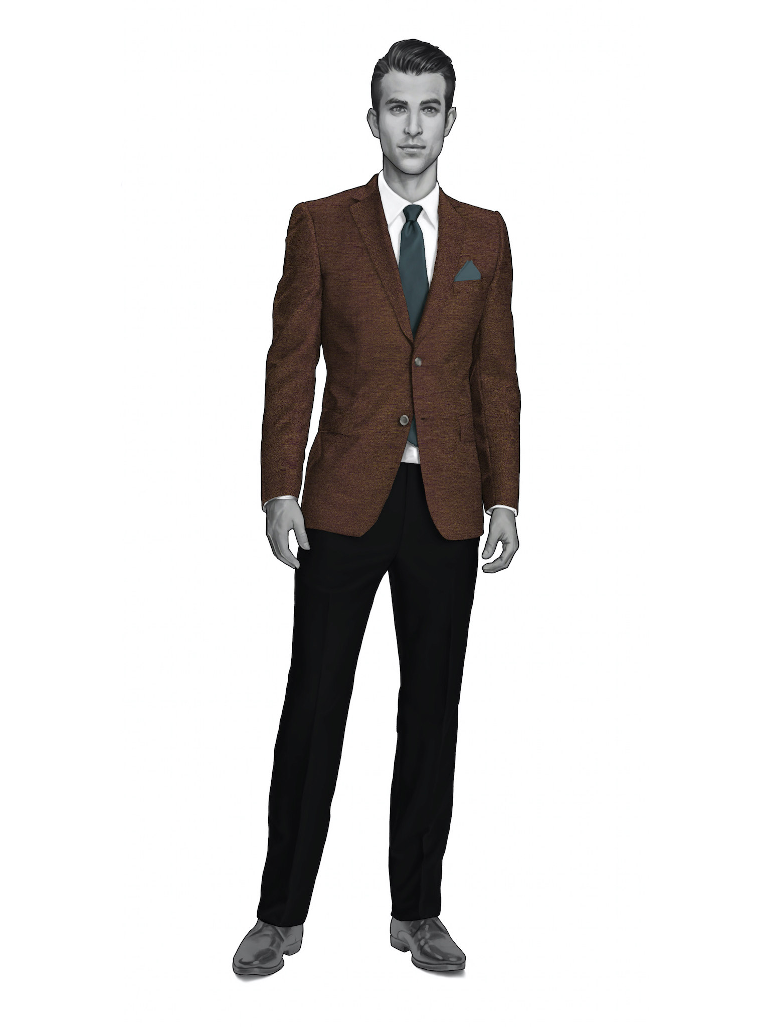 Miami | Made Suits by MESH Blazers HS1730 by Holland & Sherry Hopsack Person.jpg