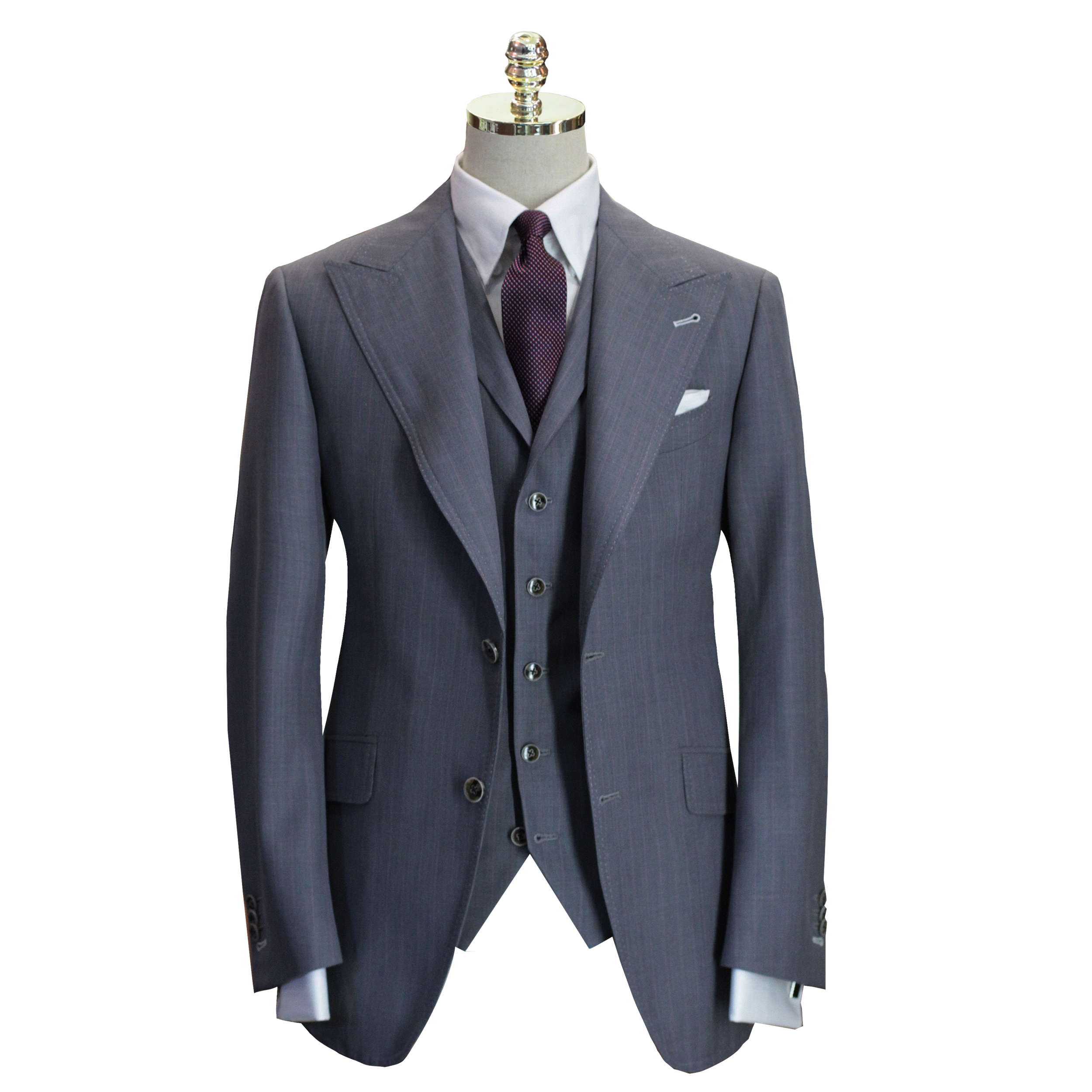 Tailor Made Suits | Grey Joshua | Three Piece Suit.png