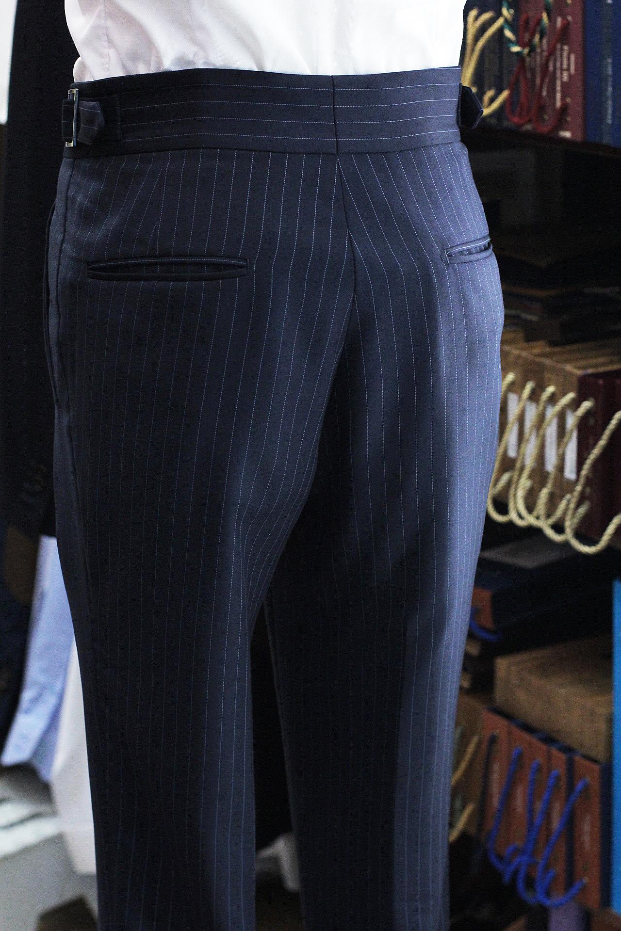 Super 120s Pinstripe Gurkha Trousers Double Pleated Trousers Singapore Bespoke Tailor.JPG