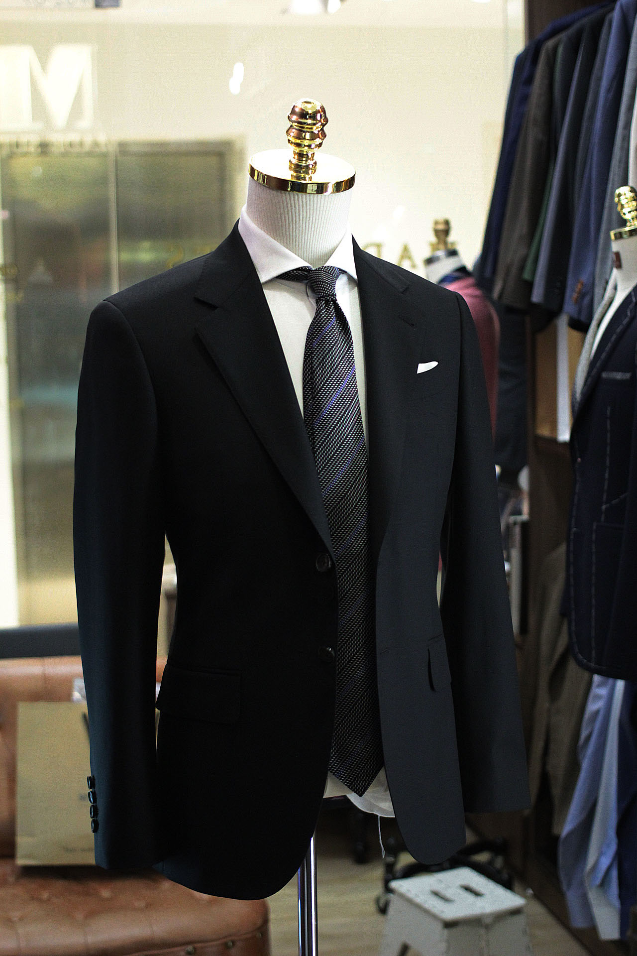 Mr Wick | Babayaga | Made Suits | Tailor Made Suits Singapore | Holland & Sherry Black Suit Side.JPG