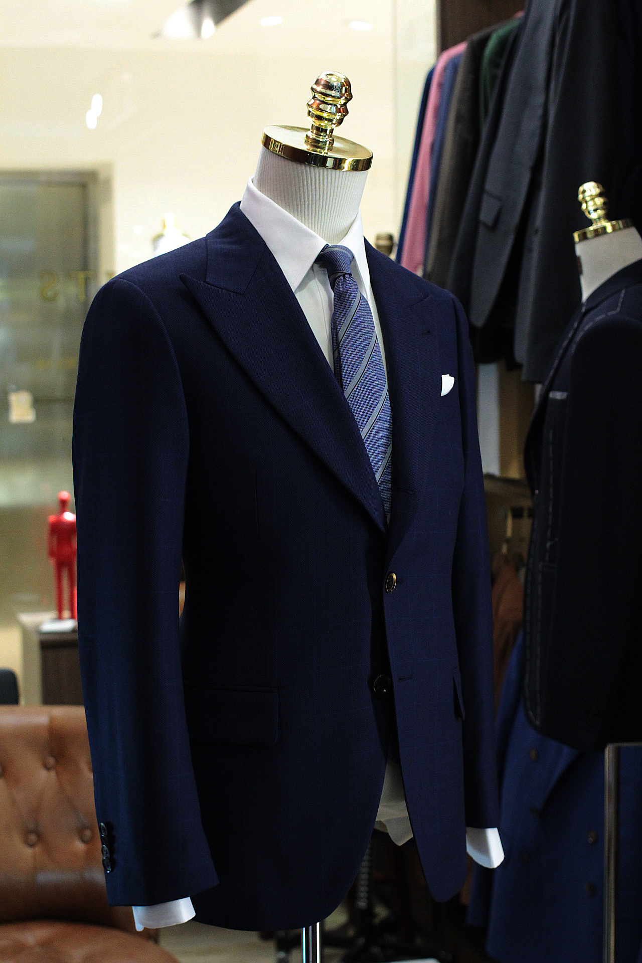 Fever | DRAGO Fabric | Made Suits Singapore | Tailor Made Suits | Glen Checks Single breasted Suit side view.JPG