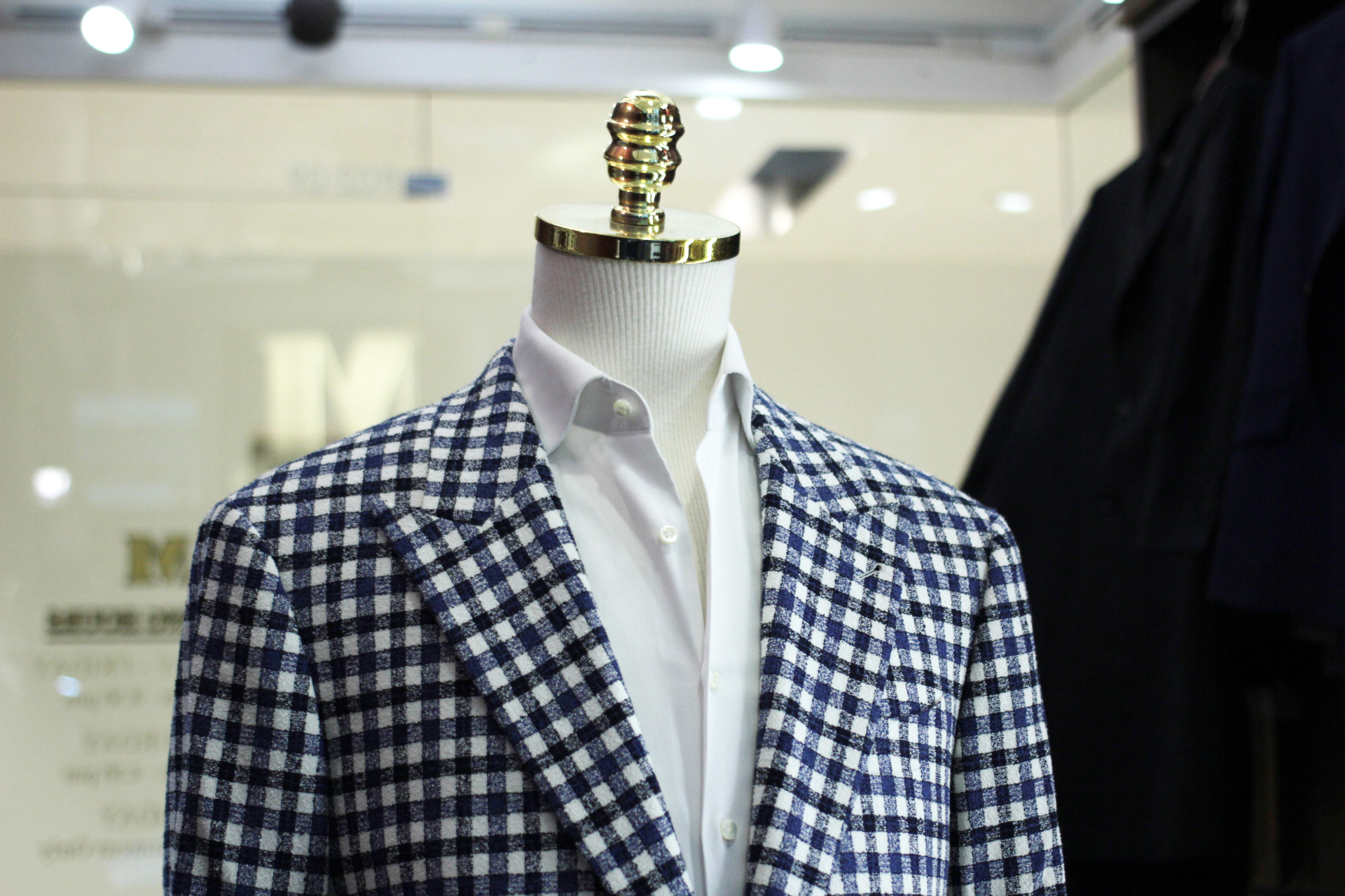 Ribbon | MARZONI | Tailor Made Suits | Made Suits Singapore | Blazer | Checks Single Breasted Suit side.JPG